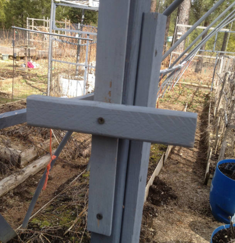 door latch for hoop house