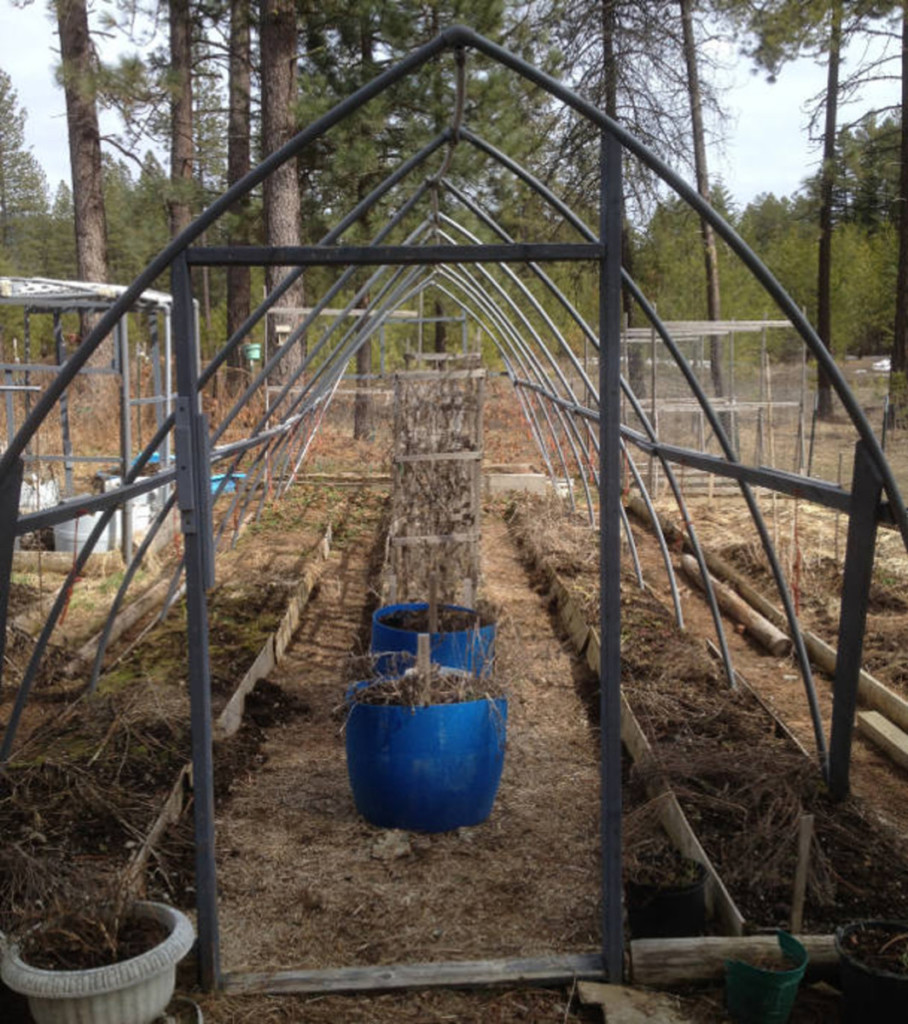 front end of hoop house frame