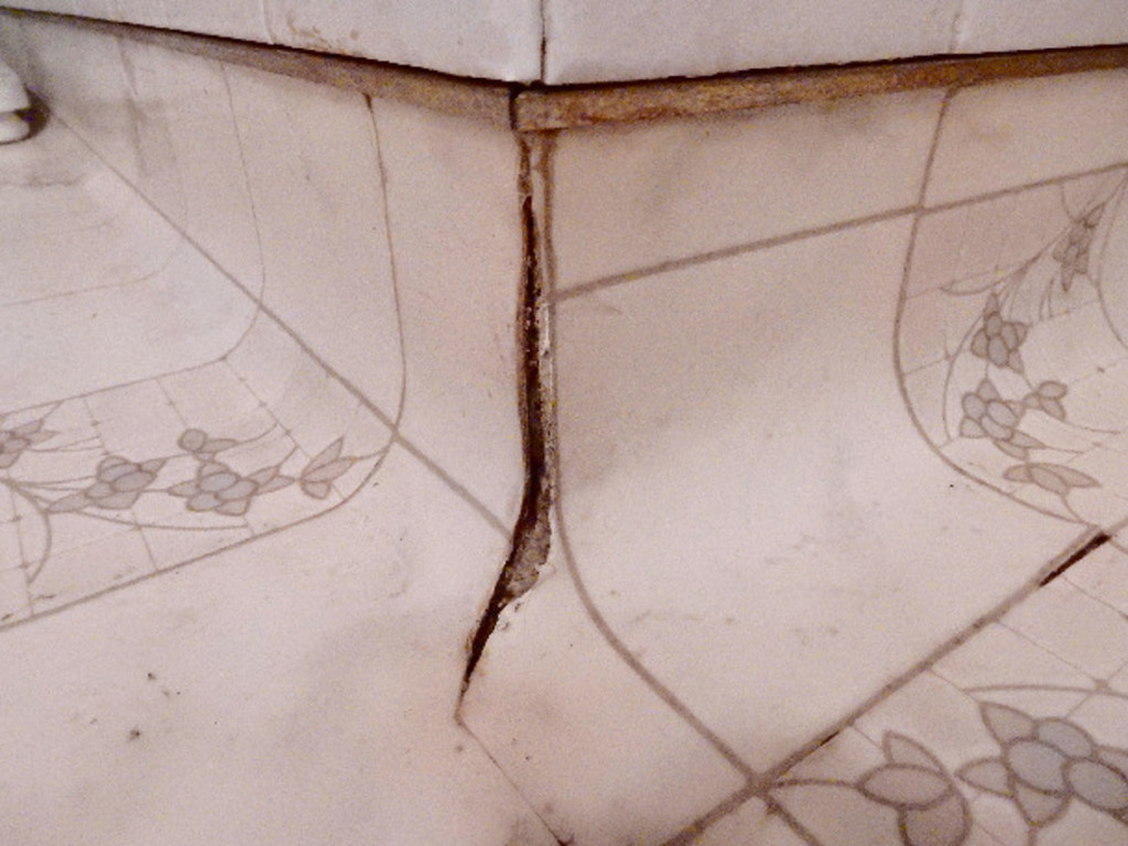 Cracks and crevices where cockroaches can hide